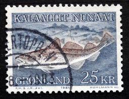 Greenland 1981 Cod - Fish    MiNr.129  ( Lot D  2924  ) - Usati