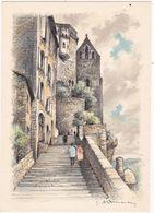 Lot : ROCAMADOUR : L'Escalier Des Pélerins : Illustrateur - à Identifier : - Rocamadour