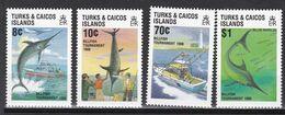 Turks- Und Caicos-Inseln 1988 - Mi.Nr. 819 - 822 - Postfrisch MNH - Tiere Animals Fische Fishes - Peces