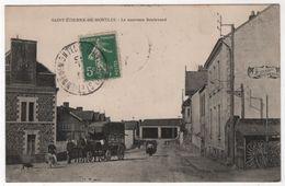 CPA 44 SAINT ETIENNE De MONTLUC Commerçant Ambulant Diligence Devant Foucault Vétérinaire - Saint Etienne De Montluc