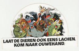 Ouwehand Dierenpark Rhenen (NL) Giraffe-olifant-aap-leeuw-pinguin - Stickers