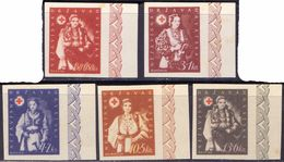 CROATIA - HRVATSKA - NDH - ERROR - IMPERF - COSTUMES - RED  CROSS - Mint - 1943 - Costumi