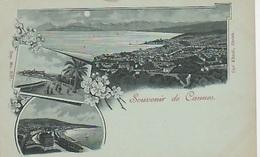 20 / 8 /  170. -  SOUVENIR. DE. CANNES   - 3. VUES  - CPA - Cannes