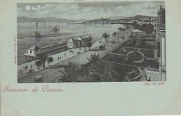 20 / 8 / 171. -  SOUVENIR  DE. CANNES  -  LA. CROISETTE -  ( Clair De Lune ) -CPA - Cannes