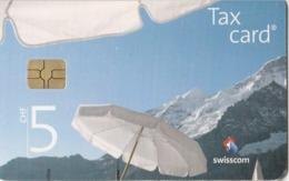 Switzerland, CP-220, Beautiful Panoramic View From A Garden Restaurant, 2 Scans. - Svizzera