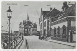 Skalmierzyce : Bahnof Und Postamt, See Verso, The Military Postmarks - Polonia