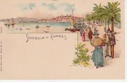 20: 8 / 173  - SOUVENIR  DE  CANNES  - CPA - Cannes