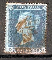 GREAT BRITAIN QV  2P BLUE  USED - 1840-1901 (Victoria)