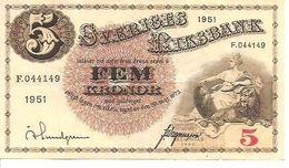 Sweden 5 Kronor 1951 - Noorwegen