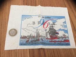 "Serviette Papier ""BREST 96 (29)"" (fêtes Maritimes 1996) - Werbeservietten"