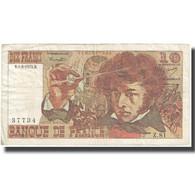 France, 10 Francs, Berlioz, 1974, 1974-08-01, TB, Fayette:63.6, KM:150a - 10 F 1972-1978 ''Berlioz''