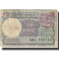 Billet, Inde, 1 Rupee, Undated (1988), KM:78Ab, B - India