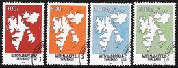 SVALBARD SPITSBERGEN 2020 DEFINITIVES MAPS CTO LOCAL STAMPS / ARCTIC TERRITORY POLAR NORTH POLE - Polar Philately