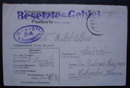 1942 M. Stammlager IV  D Torgau Elbe Kriegsgefangenenpost  Geprüft 24, Carte Pour Trèvières Calvados - Marcophilie (Lettres)