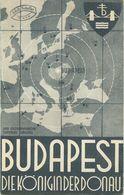 Ungarn - Budapest 1935 - Faltblatt Mit 9 Abbildungen - Hotelliste - Folletos Turísticos