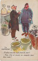 Humour :  Le  Représentant , Voulez  Vous  Des  Oeufs  Du  Jour  ? - Humor