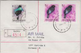 Papua New Guinea - Badili 10.12.92 Einschreibebrief Bird Of Paradise - Papua New Guinea