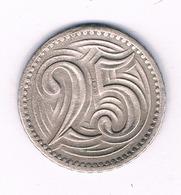 25 HALLER  1933  TSJECHOSLOWAKIJE /6345/ - Tchécoslovaquie