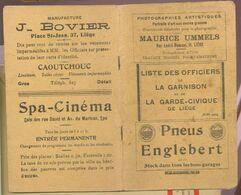 Officiers De La Garnison De Liège   1914   Cinéma De Spa - Histoire