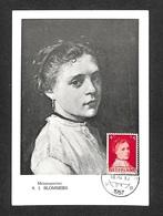 PAYS-BAS - NEDERLAND - Carte MAXIMUM 1957 - B. J. BLOMMERS - Cartes-Maximum (CM)
