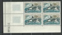 """TAAF Coins Datés YT 30 """" Orque """" 1969 Neuf** Du 21.10.69 - Neufs"""