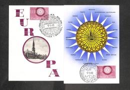 BELGIQUE - BELGIE - 2 Cartes MAXIMUM 1960 - EUROPA - - Cartoline Maximum