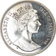 Monnaie, Isle Of Man, Crown, 1998, Pobjoy Mint, Année De L'océan - Baleine - Monnaies Régionales