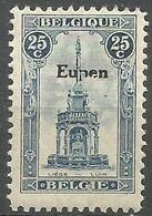 """Belgique - Variétés - N°OC92-V - Perron Liégeois Surchargé Eupen - """"e"""" Cassé Dans Eupen - Gebroken """"e"""" In Eupen - Errors (Catalogue COB)"""