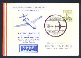 YUGOSLAVIA - First Flight Wien-Dubrovnik 1964. Nice Illustrated Cover With Commemorative Cancel. - 1945-1992 République Fédérative Populaire De Yougoslavie
