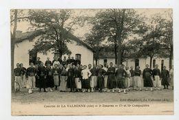 CPA: 01 - CASERNE DE LA VALBONNE - 3e ZOUAVES - 17e ET 18e COMPAGNIES - - Autres Communes