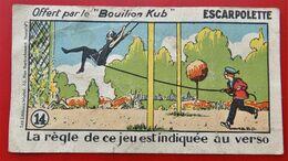 Chromo BOUILLON KUB N° 14 Jeu D Enfants ESCARPOLETTE - Old Paper