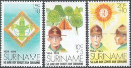M2948 ✅ Scouts Pioneers 1974 Suriname 3v Set MNH ** - Pfadfinder-Bewegung
