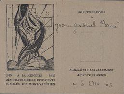 Carte D'identité Association Des Parents Et Amis Des Fusillés Du Mont Valérien Laissez Passer Clairière Et Chapelle - Marcophilie (Lettres)