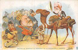A-20-857 : ARRIVEE DE MONSIEUR LE PRESIDENT DE LA REPUBLIQUE A LONDRES ILLUSTREE PAR ASSUS. - Personnages