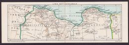 CPA Libye Carte Double Panoramique Maps Non Circulé Voir Scan Du Dos - Libia