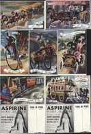 12 Fiche De Pesée Publicitaire Publicité Aspirine Usines Du Rhône Specia Paris Omnibus Chevaux Chemins De Fer Grand-Bi - Non Classés