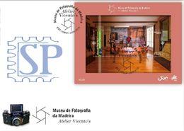Portugal 2020 FDCB Museu Fotográfico Da Madeira Atelier Vicente's Photographie Arte Photography Photo Mini Sheet Art - Fotografía