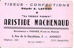 BUVARD BLOTTING PAPER TISSUS CONFECTION LA VIEILLE MAISON ANNECY THONES 74 - Vestiario & Tessile