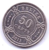 BELIZE 2013: 50 Cents, KM 37 - Belize