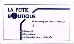 BUVARD BLOTTING PAPER LA PETITE BOUTIQUE ANNECY 74 MERCERIE BONNETERIE - Vestiario & Tessile