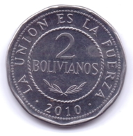 BOLIVIA 2010: 2 Bolivianos, KM 218 - Bolivia