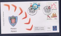 Monaco FDC 2000 Sydney Olympic Games (NB**LAR9-166) - Sommer 2000: Sydney