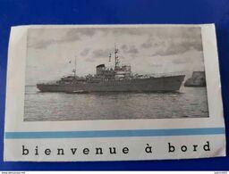 BIENVENUE A BORD A 957 KAMINA RAVITAILLEUR ET NAVIRE D ENTRAINEMENT - - Boats