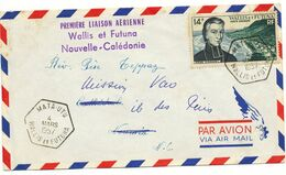 WALLIS ET FUTUNA ENV 1957 MATA - UTU LETTRE AVION 1° LIAISON AERIENNE WALLIS ET FUTUNA NOUVELLE CALEDONIE - Wallis And Futuna