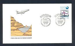 FOROYAR-DENMARK 1977 - FDC - Commemorative First Flight Cancel On Air Mail Cover Foroyar-Danmark, DANAIR B-737. - Färöer Inseln