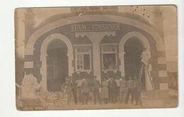 Carte Photo Ham ( Somme) Le Casino , Animée , Ouvrier Entretenant Le Bâtiment , Animée - Ham