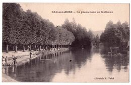 7580 JD - Bar Sur Aube ( 10 ) - La Promenade De Mathaux - Lib. A. Valck - - Bar-sur-Aube