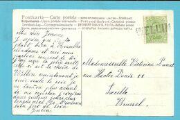 137 Op Kaart Met Naamstempel WELLIN Als Noodstempel Gebruikt - Fortune Cancels (1919)