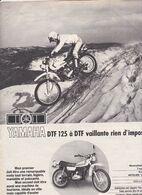 Feuillet De Magazine Moto Yamaha DTF 125 1976 - Moto
