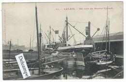 """BATELLERIE - CALAIS (62) - Un Coin Du Bassin Carnot   -  (Péniches Et  Le Bateau """"J.M. Smith Sunderland) - Andere"""